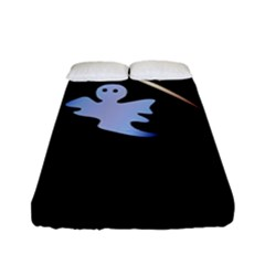 Ghost Night Night Sky Small Sweet Fitted Sheet (full/ Double Size) by Amaryn4rt