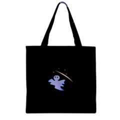 Ghost Night Night Sky Small Sweet Zipper Grocery Tote Bag