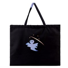 Ghost Night Night Sky Small Sweet Zipper Large Tote Bag by Amaryn4rt