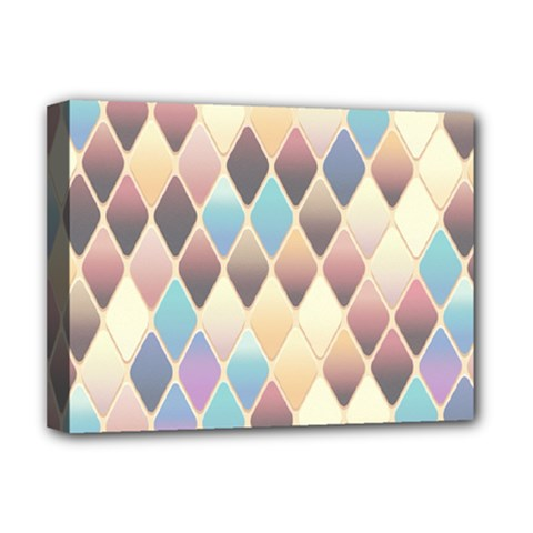 Abstract Colorful Background Tile Deluxe Canvas 16  X 12   by Amaryn4rt