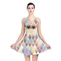 Abstract Colorful Background Tile Reversible Skater Dress