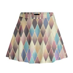 Abstract Colorful Background Tile Mini Flare Skirt