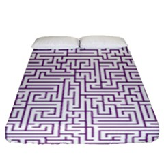 Maze Lost Confusing Puzzle Fitted Sheet (queen Size) by Amaryn4rt