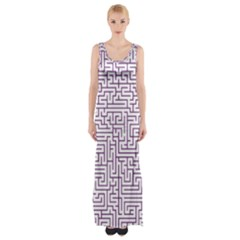 Maze Lost Confusing Puzzle Maxi Thigh Split Dress