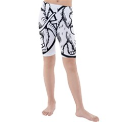 Mammoth Elephant Strong Kids  Mid Length Swim Shorts by Amaryn4rt