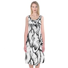 Mammoth Elephant Strong Midi Sleeveless Dress by Amaryn4rt