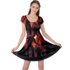 Horror Zombie Ghosts Creepy Cap Sleeve Dresses by Amaryn4rt