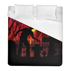 Horror Zombie Ghosts Creepy Duvet Cover (full/ Double Size) by Amaryn4rt