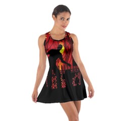 Horror Zombie Ghosts Creepy Cotton Racerback Dress by Amaryn4rt