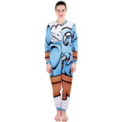 Elephant Bad Shower Onepiece Jumpsuit (ladies)  by Amaryn4rt
