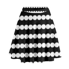 Silhouette Overlay Oval High Waist Skirt