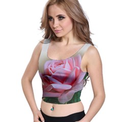 Rose Pink Flowers Pink Saturday Crop Top by Amaryn4rt