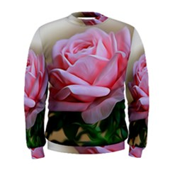 Rose Pink Flowers Pink Saturday Men s Sweatshirt by Amaryn4rt