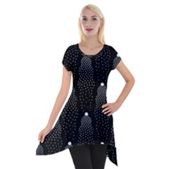Star Tree Short Sleeve Side Drop Tunic by AnjaniArt
