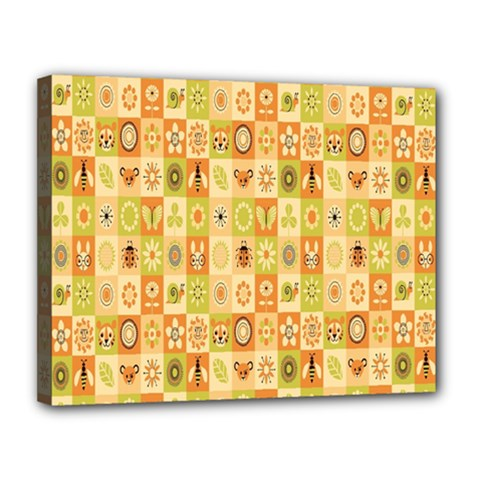 Texture Background Stripes Color Animals Canvas 14  X 11