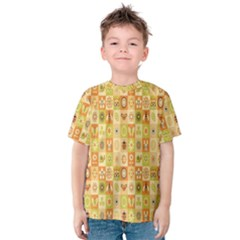 Texture Background Stripes Color Animals Kids  Cotton Tee