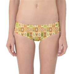 Texture Background Stripes Color Animals Classic Bikini Bottoms by AnjaniArt