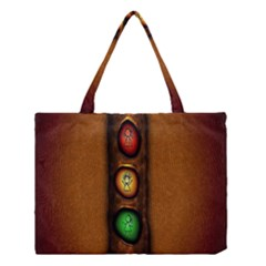 Traffic Light Green Red Yellow Medium Tote Bag