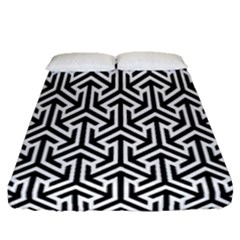 Tramas On Pinterest Geometric Patterns Fitted Sheet (queen Size) by AnjaniArt