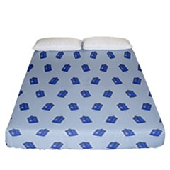 Tumblr Cute Tardis Fitted Sheet (california King Size) by AnjaniArt