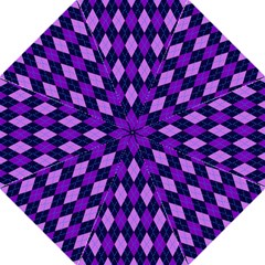 Tumblr Static Argyle Pattern Blue Purple Straight Umbrellas by AnjaniArt
