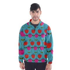 Tulips Floral Flower Wind Breaker (men)