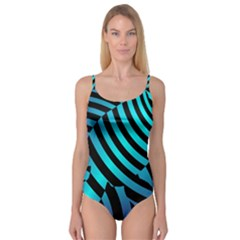 Turtle Swimming Black Blue Sea Camisole Leotard  by AnjaniArt