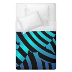 Turtle Swimming Black Blue Sea Duvet Cover (single Size) by AnjaniArt
