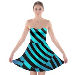 Turtle Swimming Black Blue Sea Strapless Bra Top Dress