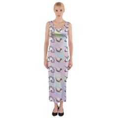Tumblr Unicorns Fitted Maxi Dress by AnjaniArt