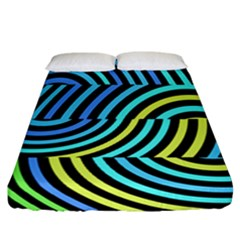 Twin Tunnels Visual Illusion Casino Art Fitted Sheet (california King Size) by AnjaniArt
