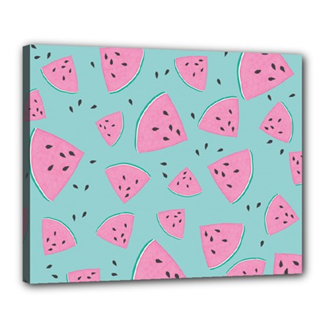 Watermelon Red Blue Canvas 20  X 16