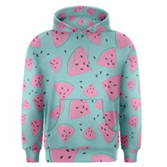 Watermelon Red Blue Men s Pullover Hoodie