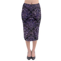 Damask1 Black Marble & Purple Marble Midi Pencil Skirt by trendistuff