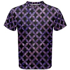 Circles3 Black Marble & Purple Marble Men s Cotton Tee by trendistuff