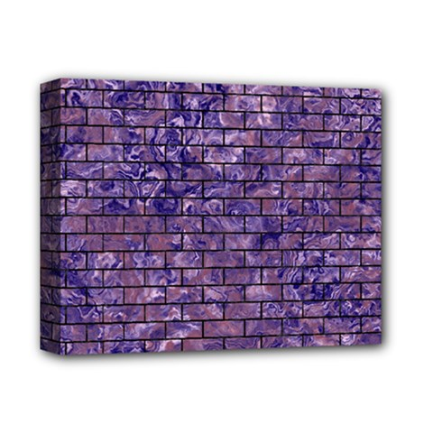 Brick1 Black Marble & Purple Marble (r) Deluxe Canvas 14  X 11  (stretched) by trendistuff