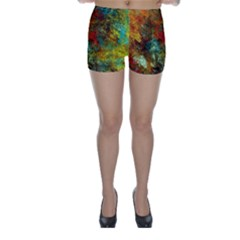 Mixed Abstract Skinny Shorts by digitaldivadesigns