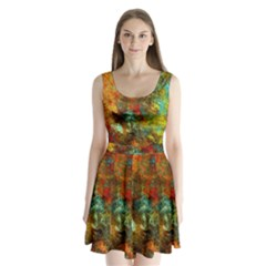Mixed Abstract Split Back Mini Dress  by digitaldivadesigns