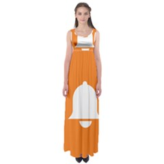 Bell Orange Copy Empire Waist Maxi Dress by Jojostore