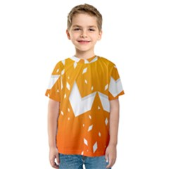 Cute Orange Copy Kids  Sport Mesh Tee