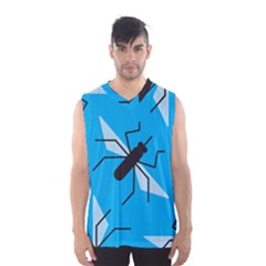 Mosquito Blue Black Men s Basketball Tank Top
