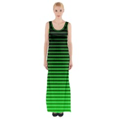 Neon Green And Black Halftone Copy Maxi Thigh Split Dress by Jojostore