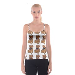 Bear Spaghetti Strap Top by Jojostore