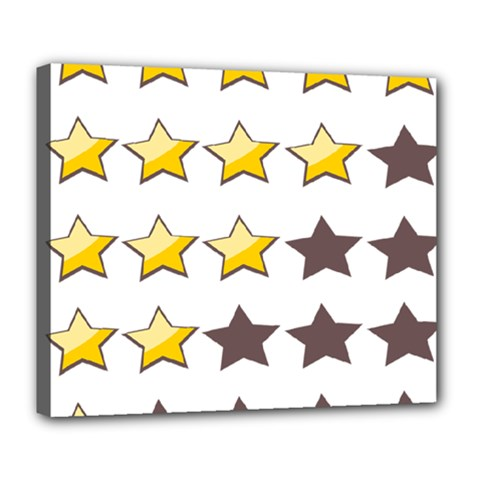 Star Rating Copy Deluxe Canvas 24  X 20