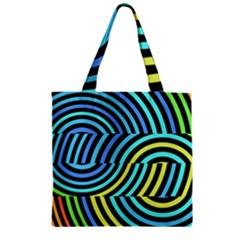 Twin Tunnels Visual Illusion Casino Art Zipper Grocery Tote Bag by Jojostore
