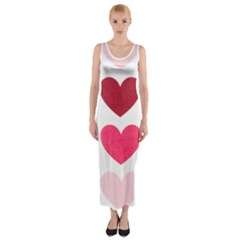 Valentine S Day Hearts Fitted Maxi Dress