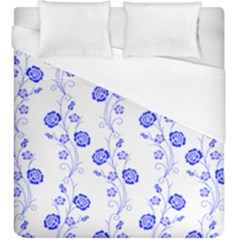 Vertical Floral Duvet Cover (king Size)