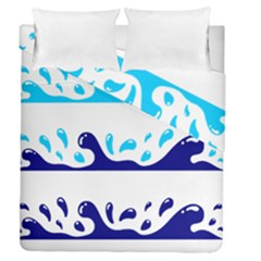 Water Duvet Cover Double Side (queen Size) by Jojostore
