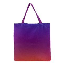 Purple Orange Blue Grocery Tote Bag by Jojostore