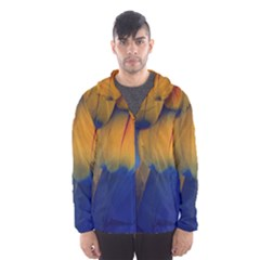 Parrots Feathers Hooded Wind Breaker (men)